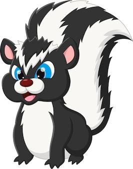 Pose de dessin animé mignon skunk