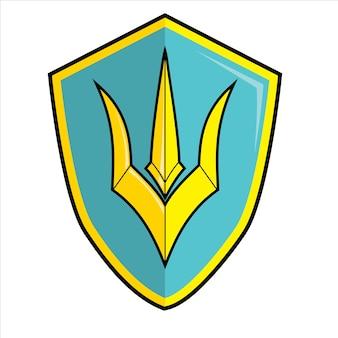 Poseidon shield logo