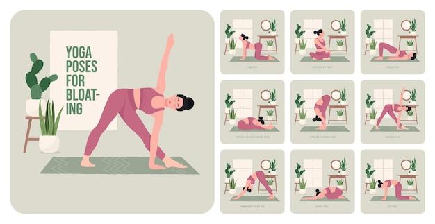 Poses de yoga pour construire des fessiers forts jeune femme pratiquant des poses de yoga