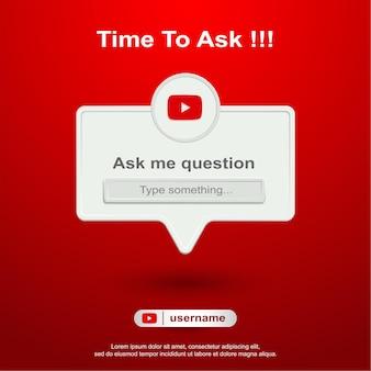 Posez-moi une question sur les réseaux sociaux sur youtube