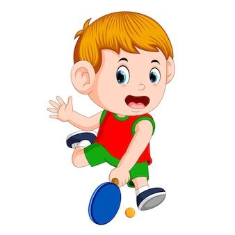 Positions du joueur de table de tennis