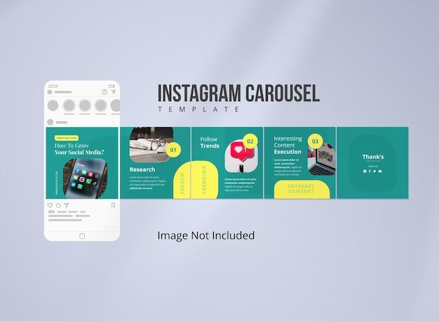 Post de carrousel instagram de stratégie de médias sociaux