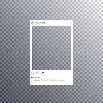 Post frame réseau social
