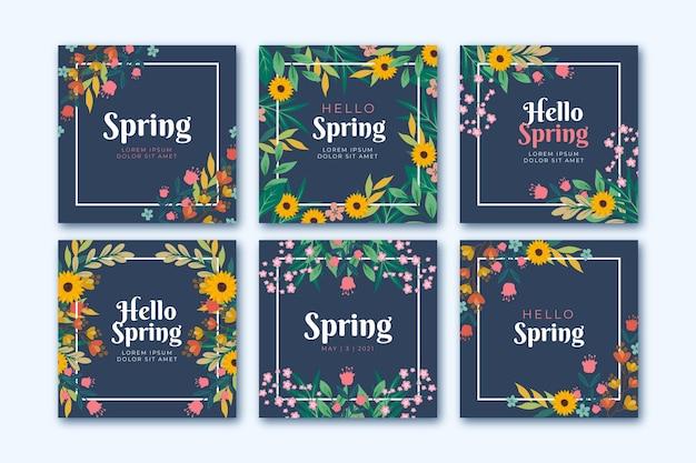 Post instagram de beau cadre coloré floral
