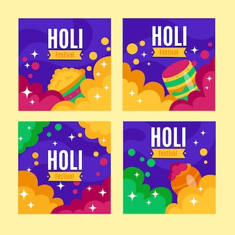 Post instagram avec le concept du festival holi