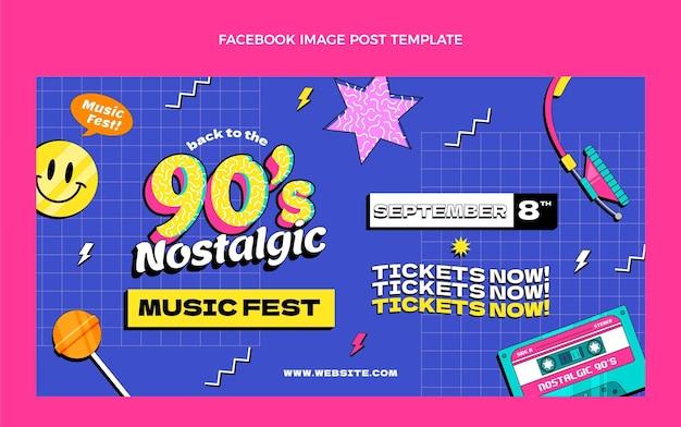 Post instagram du festival de musique coloré dessiné à la main