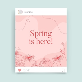 Post instagram printemps monocolor floral