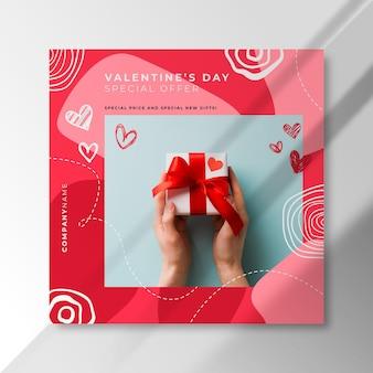 Post instagram de la saint-valentin avec offre spéciale