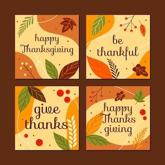 Post instagram de thanksgiving dessiné à la main