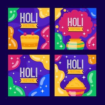 Post instagram avec le thème du festival holi