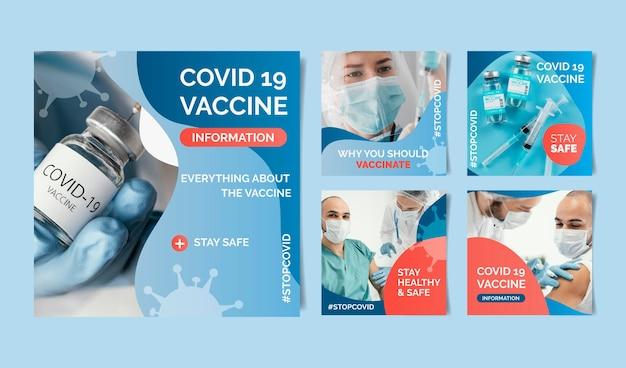 Post instagram de vaccin dégradé avec photos