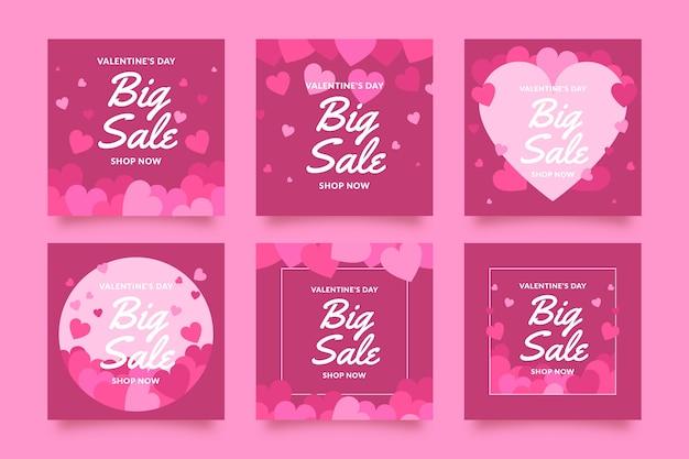 Post instagram avec les ventes de la saint-valentin