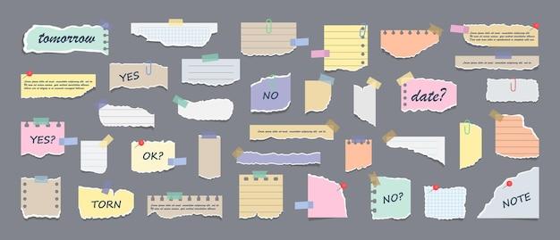 Post-it papier messages de rappel de réunion