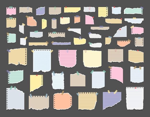 Post-it sur papier des notes de rappel