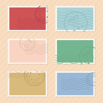 Post timbres illustration sur fond