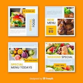 Poste culinaire instagram avec image