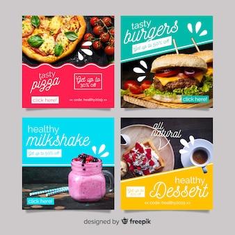 Poste culinaire instagram avec photo