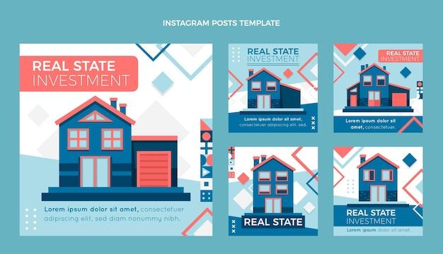 Poste ig immobilier géométrique abstrait plat