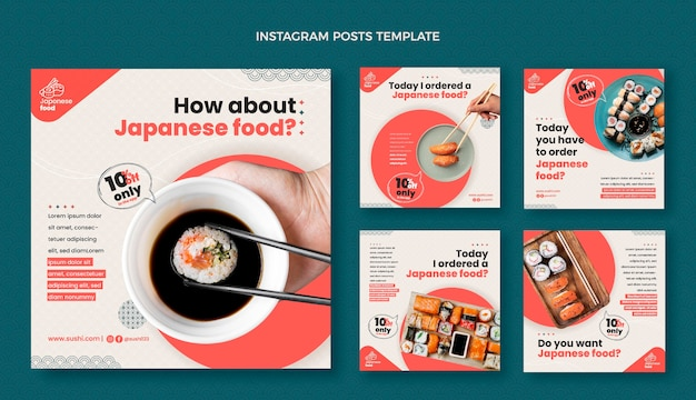 Poste instagram design plat