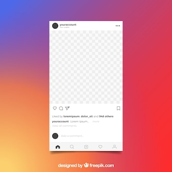 Poste instagram avec fond transparent