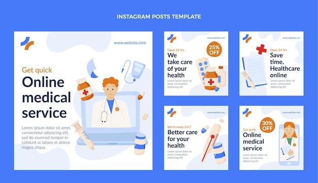 Poste instagram médical plat