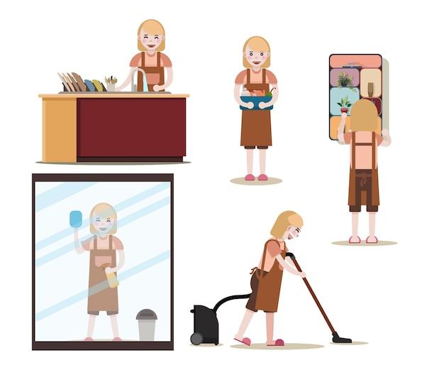 Poste de travail des femmes de ménage