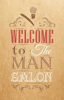 Poster barbershop brun