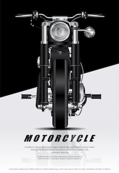 Poster chopper motorcycle isolé