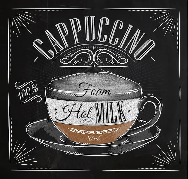 Poster craie cappuccino