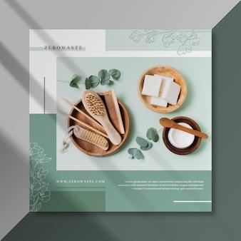 Poster facebook sur le concept d'écologie zéro déchet