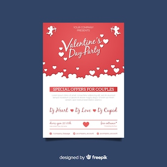Poster fête saint valentin