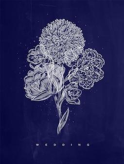 Poster fleur de mariage