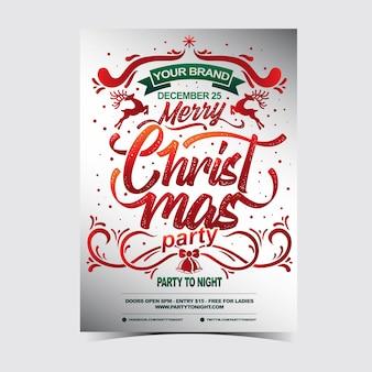 Poster de modèles poster fête de noël