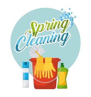 Poster de nettoyage de printemps