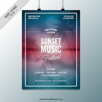Poster paysage beach party brouillé