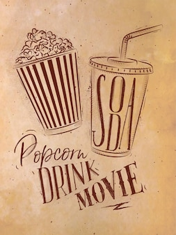 Poster pop-corn soda