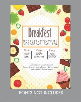 Poster poster nourriture pour le petit déjeuner