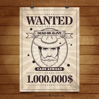 Poster sunburst des criminels dans le style rétro