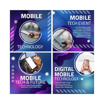 Postes instagram sur la technologie mobile