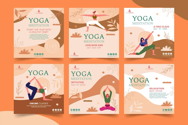 Postes instagram de yoga