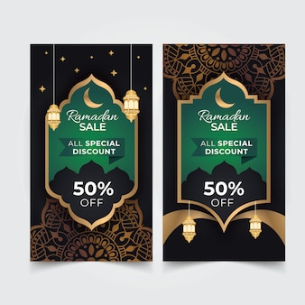 Postes de vente d'histoires du ramadan sur instagram