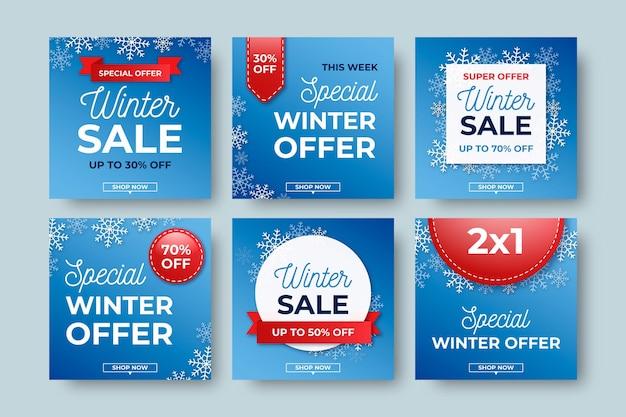 Postes de vente d'hiver créatifs