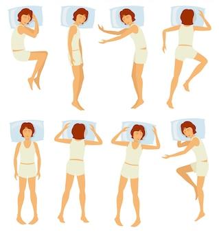 Postures de sommeil femme
