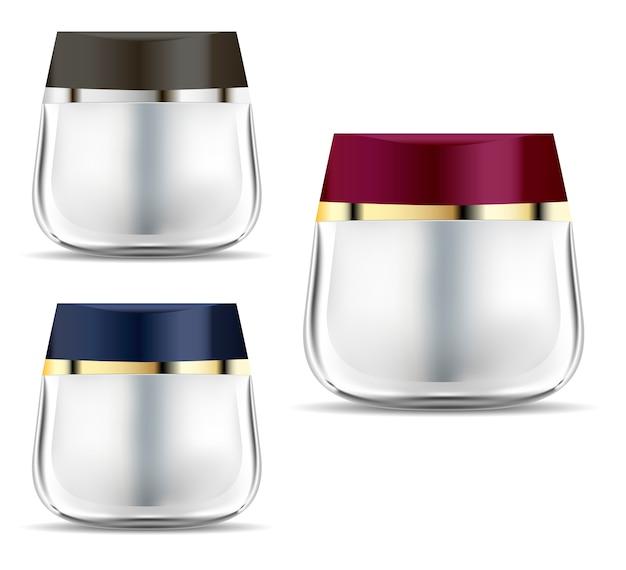 Pot cosmétique. bouteille de produit de marque de conteneur de crème