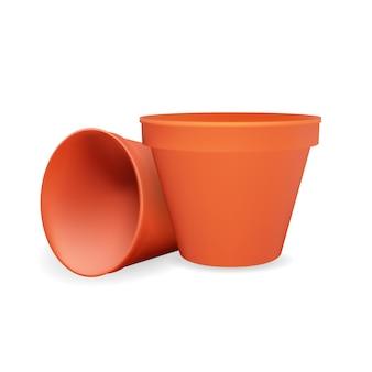Pot de fleur 3d réaliste. élément de conception.