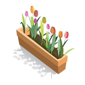 Pot de fleur illustration. élément de jeu actif