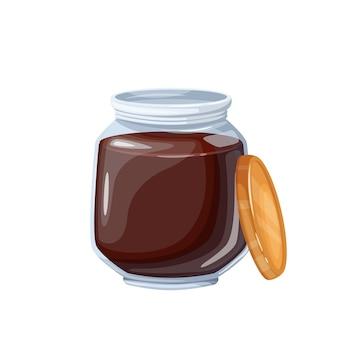 Pot d'icône de tartinade de chocolat