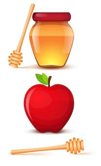 Un pot d'illustration de miel