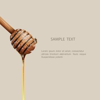 Pot de miel avec abeille