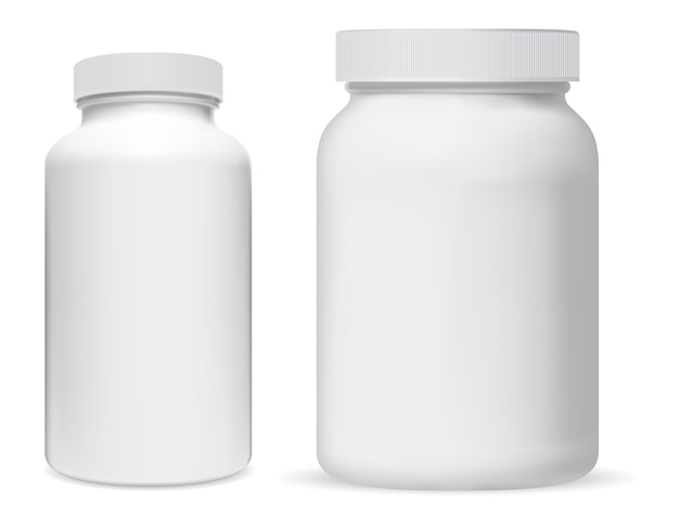 Pot de supplément en plastique blanc